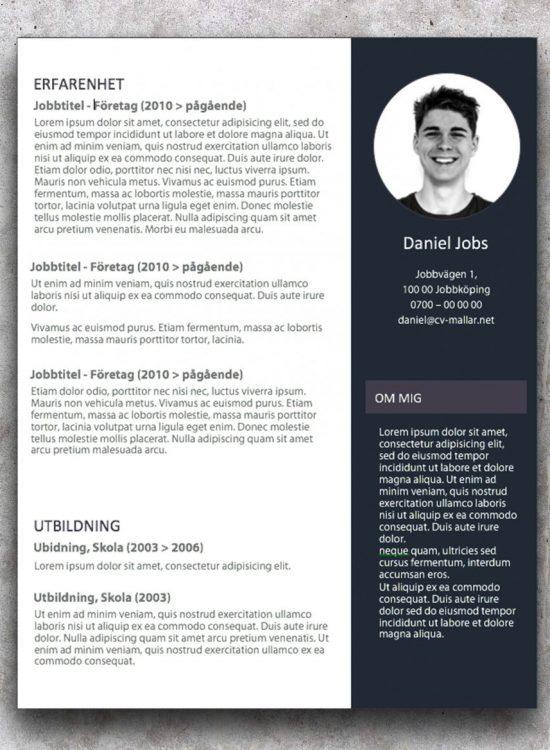CV-mallar för ungdom med ambitioner