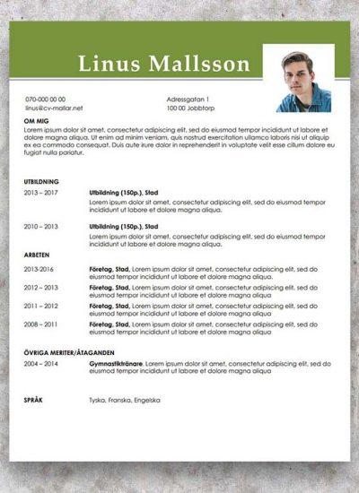 CV mallar gratis