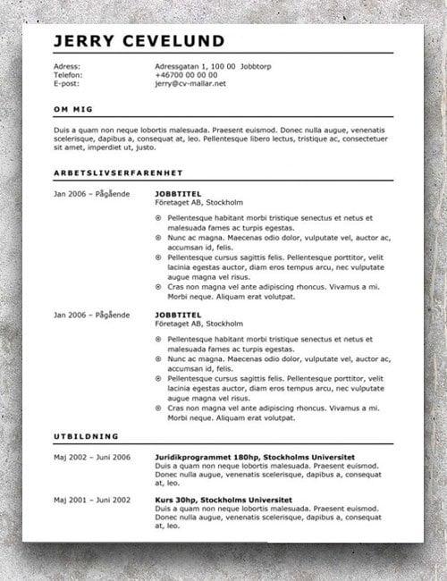 Gratis CV