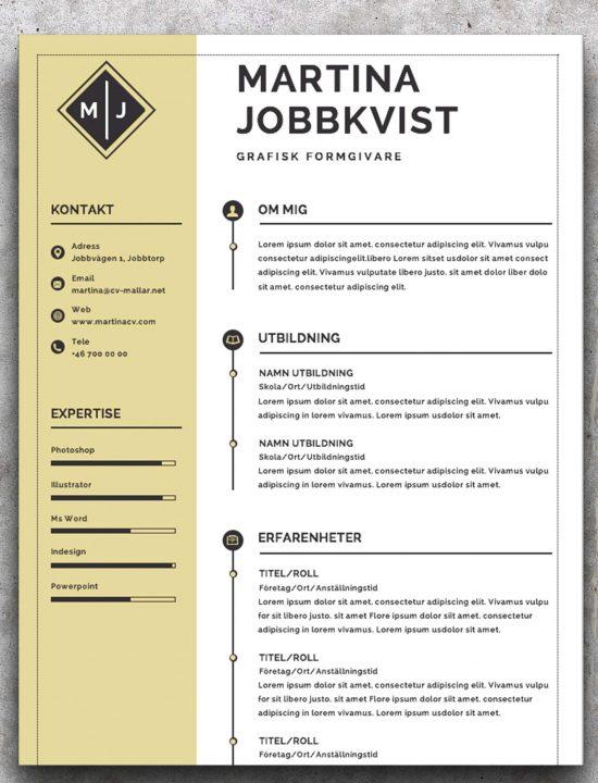 CV mall grafisk formgivare