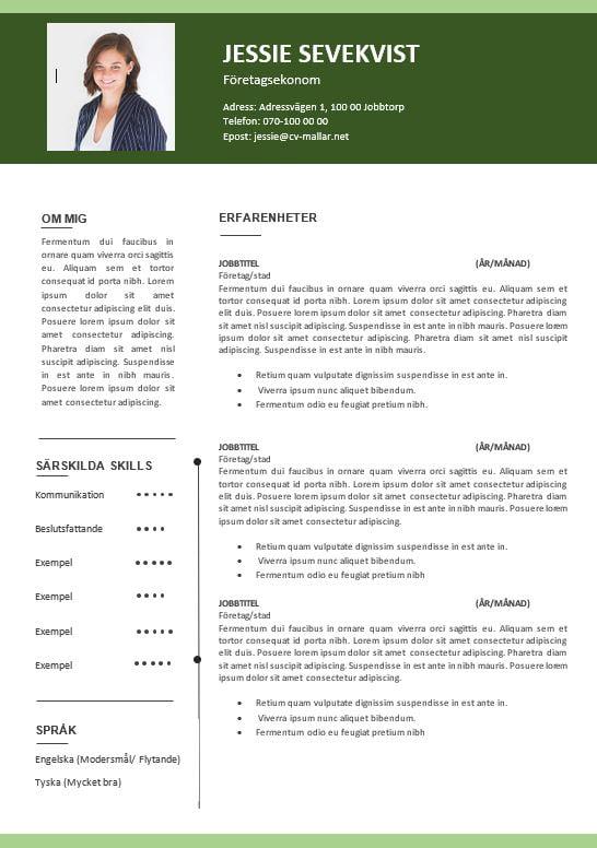 Rutinerad CV Grön